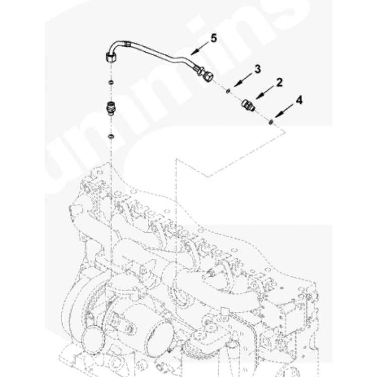 03-07 Dodge 5.9L Cummins Diesel Turbo Oil Feed Line