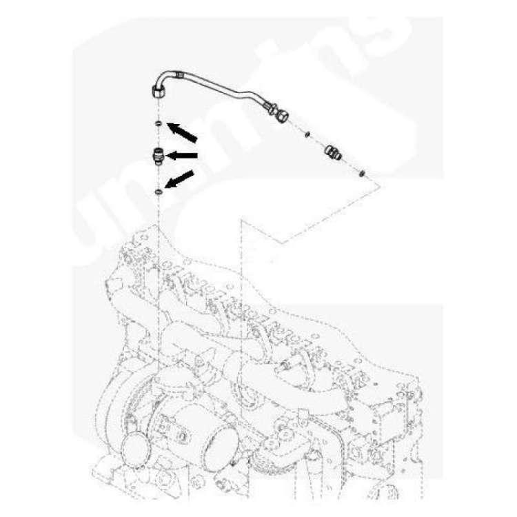 03-07 Dodge 5.9L Cummins Diesel Turbo Oil Feed Line Fitting