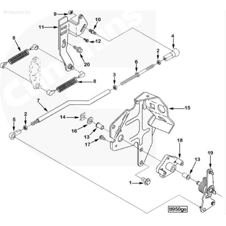 Dodge 12 Valve Cummins P7100 Build Your Own Throttle Linkage Kit