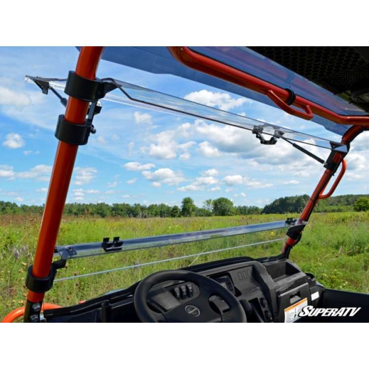 15+ Kawasaki Mule Pro Scratch Resistant Flip Windshield