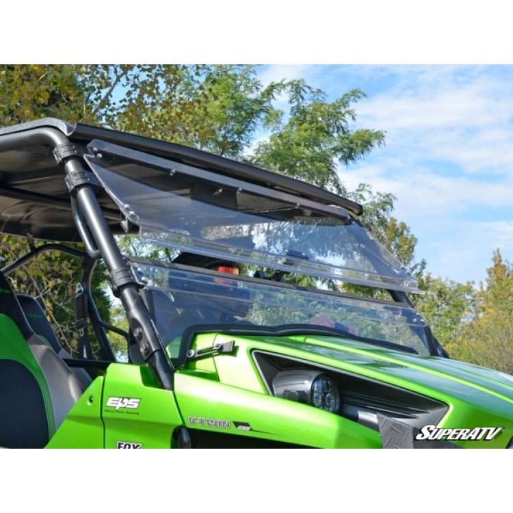 12+ Kawasaki Teryx 750/800 Scratch Resistant Flip Windshield