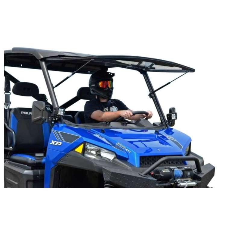 13+ Polaris Ranger XP 900 Scratch Resistant Flip Windshield