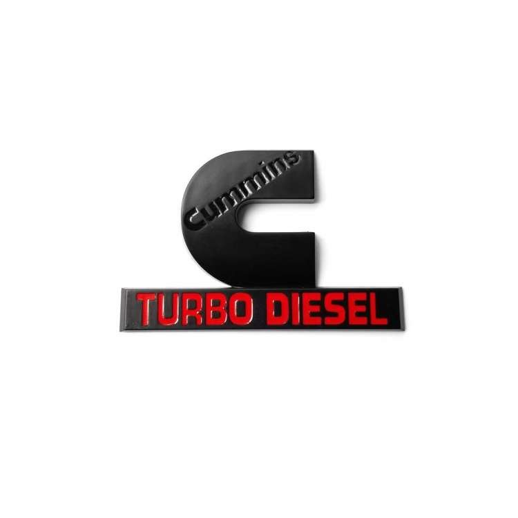 Black Cummins Turbo Diesel Logo