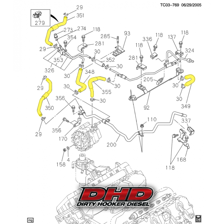 06-10 GM 6.6L Duramax DHD Low Pressure Fuel Line Kit