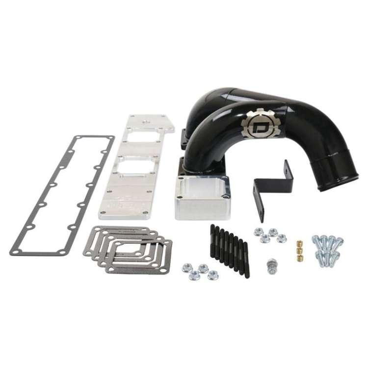 94-98 5.9L 12V Cummins Deviant Dual Intake Elbow Plenum