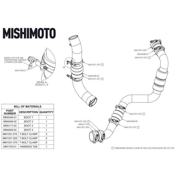 17-19 GM 6.6L L5P Duramax Mishimoto Factory Fit Intercooler Boot Kit