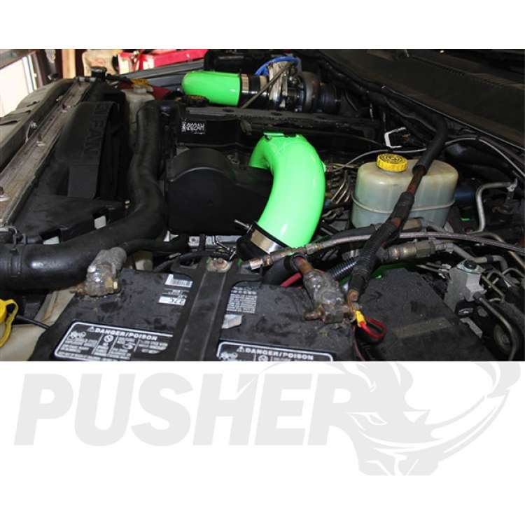 98.5-02 Dodge 5.9L Cummins Pusher 3.5 In MEGA Intake System w/Cross-Air