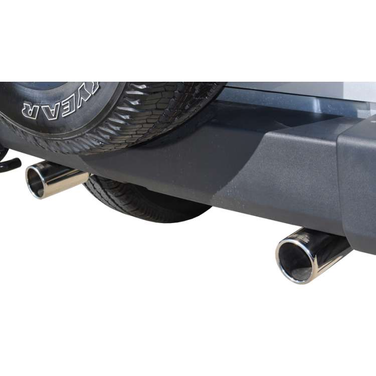 07-14 Jeep Wrangler JK 3.8L Stainless 2.5 In Axle-Back Dual Rear Exit Exhaust