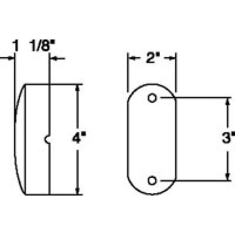 Truck Lite Reflex Two Bulb Bulb Replaceable - Amber