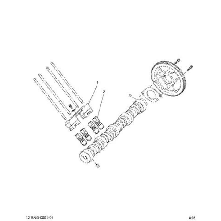 03-07 Ford 6.0L Powerstroke Roller Lifter Guide w/Lifters
