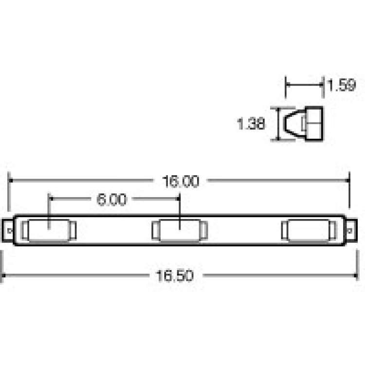 Truck Lite 15 Series Stainless Steel  LED Identification Bar Kit