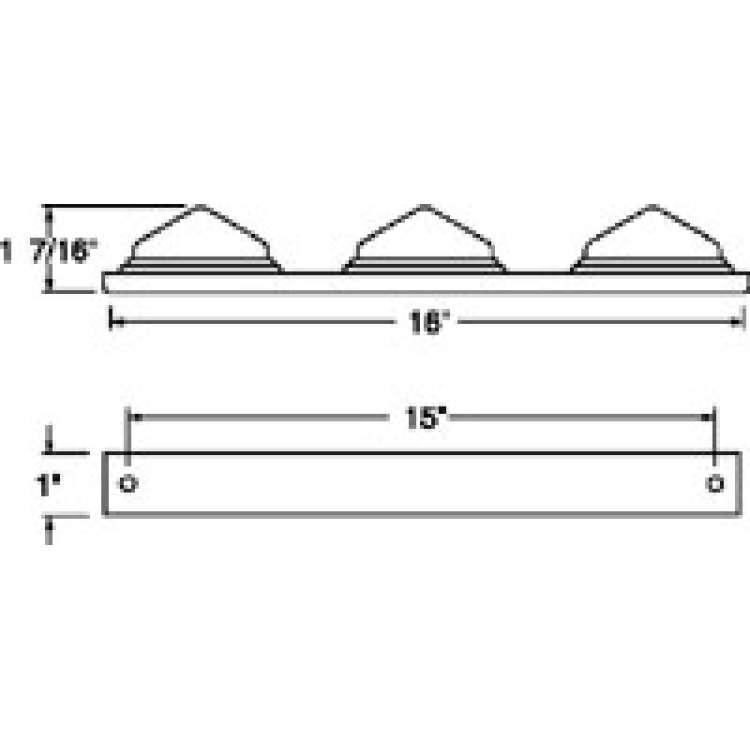 Truck Lite Slimline Aluminum ID Bar Kit