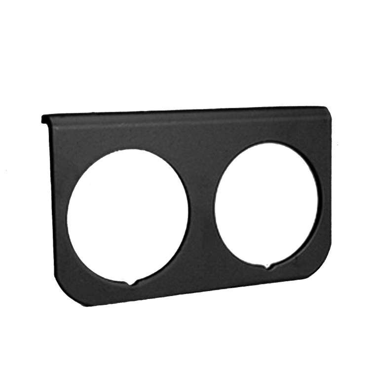 Autometer Universal Two Hole 2 In Gauge Panel Black, Aluminum