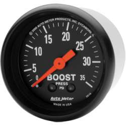 Z Series Boost Gauge 0-35 PSI 2616