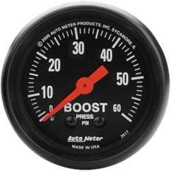 Z Series Boost Gauge 0-60 PSI 2617