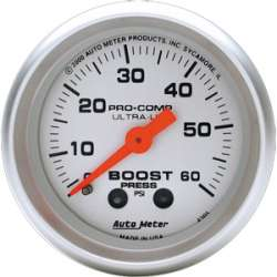 Ultra Lite Boost Gauge 0-60 PSI 4305