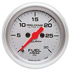 Ultra Lite Electric Fuel Presure Gauge 0-30 PSI 4360