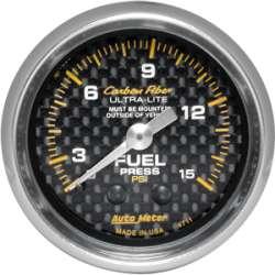 Carbon Fiber Fuel Pressure 0-15PSI 4711