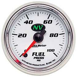 NV Electric Fuel Pressure Gauge 0-100PSI 7363