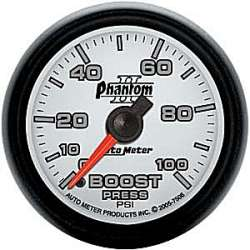 Phantom II Boost Gauge 0-100 PSI 7506