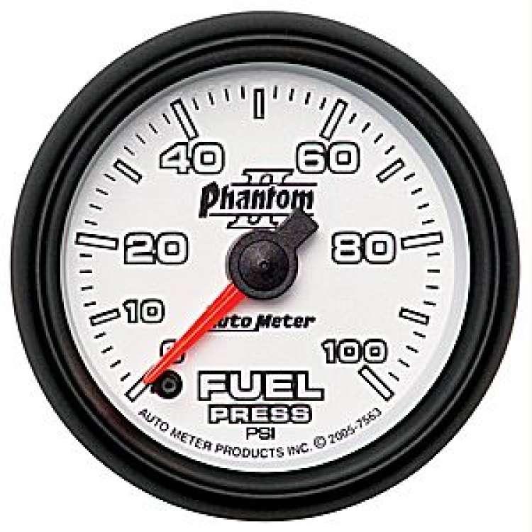 Phantom II Electric Fuel Pressure Gauge 0-100 PSI 7563