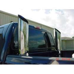 7 In Dual Chrome Pickup Truck Smoke Stack Kit