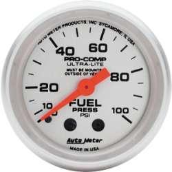 Ultra Lite 0-100 PSI Fuel Pressure Gauge 4312