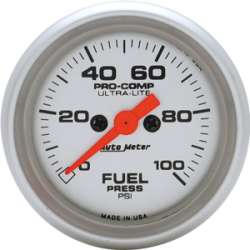 Ultra Lite Electric Fuel Pressure Gauge 0-100 PSI 4371