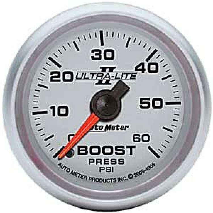 Ultra Lite II Boost Gauge 0-60PSI 4905