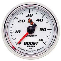 C2 Boost Gauge 0-60PSI Non Stepper Motor 7105