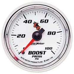 C2 Boost Gauge 0-100PSI Non Stepper Motor 7106
