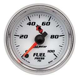 C2 0-100PSI Fuel Pressure Gauge Stepper Motor 7163