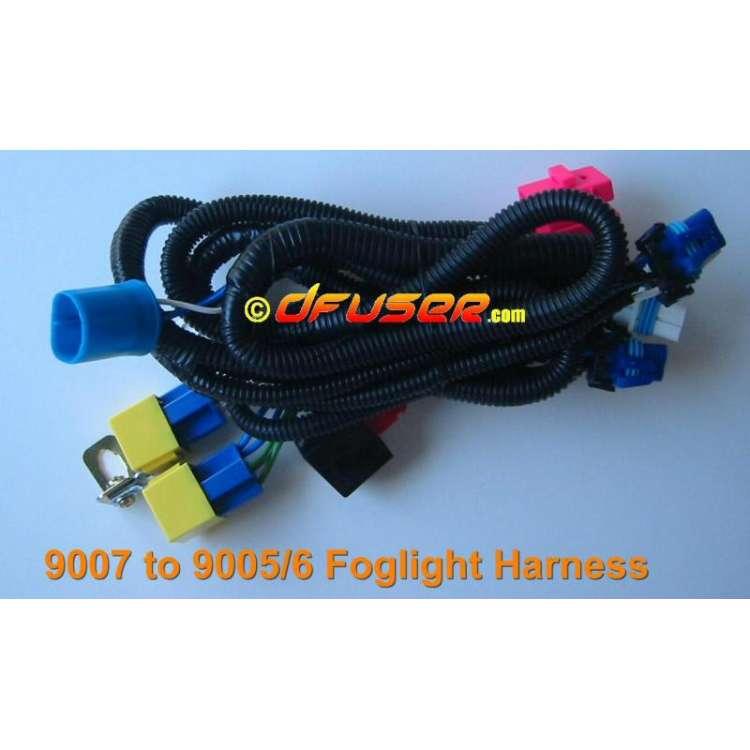 9007 to 9005/6 Foglight Headlight Heavy Duty Wiring Upgrade