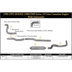 89-93 Dodge 250/350 5.9L Non-Intercooled Cummins Exhaust