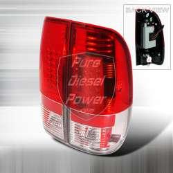 99-06 Ford F250/F350 LED Tail Lights Red Lenses