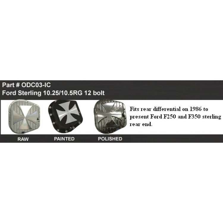 Ford 10.25RG/10.5RG 12 Bolt Differential Cover w/Iron Cross