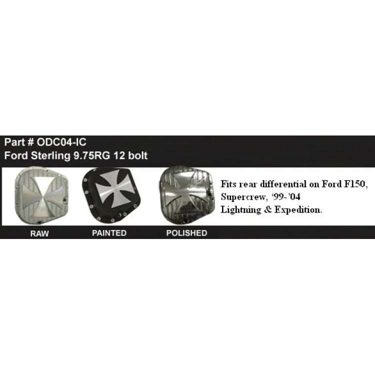 Ford 9.75RG F150/Light./Expd. 12 Bolt Diff Cover w/Iron Cross
