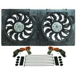 High Output Dual Rad Fan Assembly by DERALE