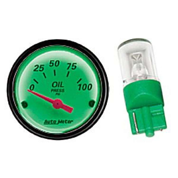 Autometer Gauge LED Replacement Bulb Kit - Green 3285