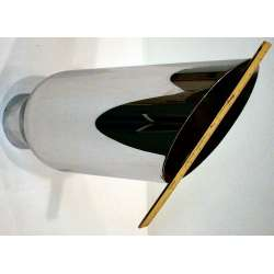 4 Inch Inlet 7 Inch Outlet 18 Inch Length Weld On Chrome Exhaust Tip