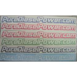 14 Inch Pure Diesel Power.com Vinyl Sticker
