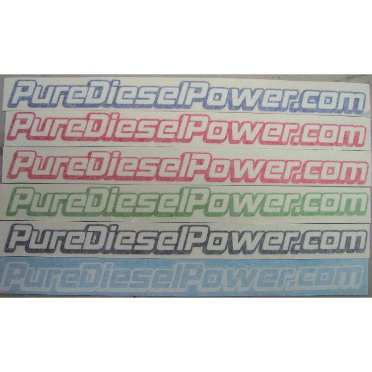 14 Inch Pure Diesel Power.com Vinyl Sticker