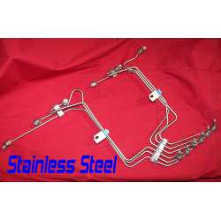 5.9L 12 Valve Cummins Stainless Steel Oversized Fuel Injection Line Kit- Pre-Bent