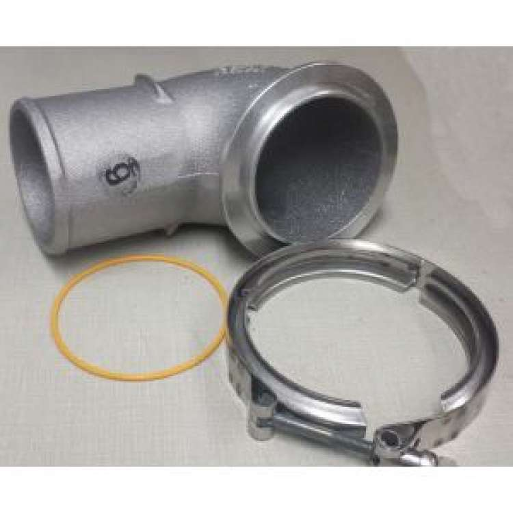 Air Transfer Tube, includes O-Ring & V-Band Clamp, Fits A5K, HX60, & S400 Compressor outlets