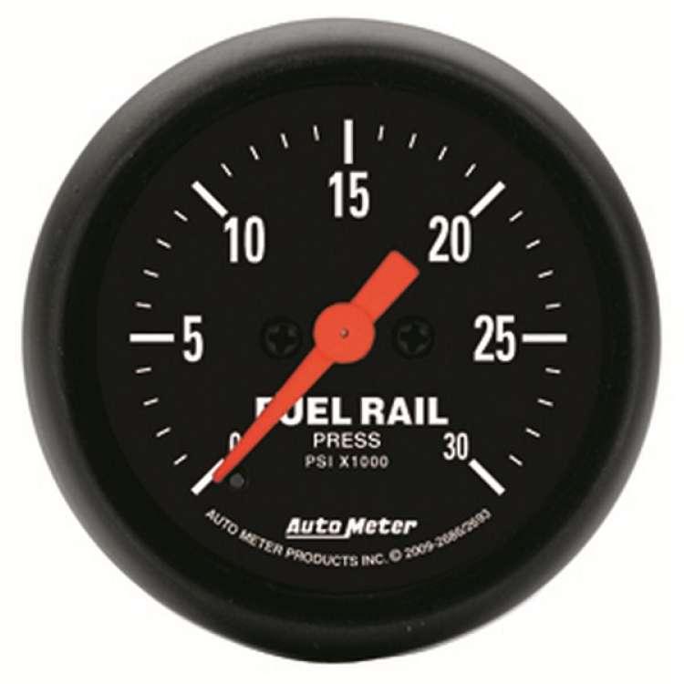 Z Series Fuel Rail Pressure Gauge 0-30000 PSI 2693, 07.5+ Cummins, LBZ/LMM Dmax