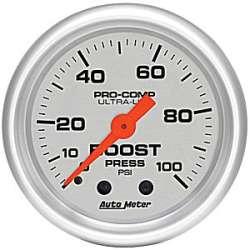 Ultra Lite Boost Gauge 0-100 PSI 4306