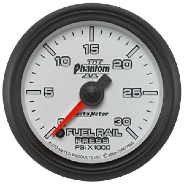 Phantom II Rail Pressure Gauge 0-30K PSI 7586 03-07.5 Cummins, LB7/LLY Dmax