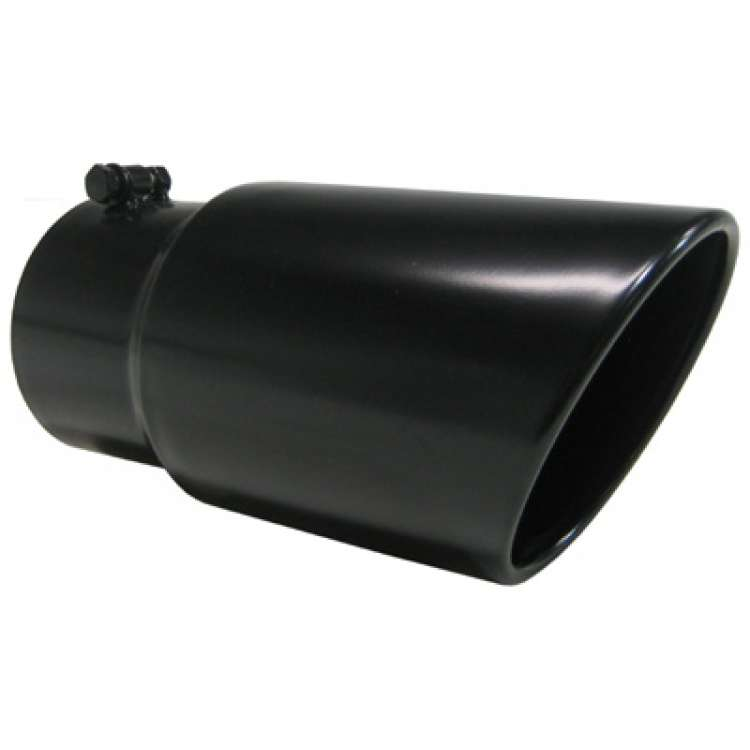 MBRP T5074BLK 5 In Inlet, 6 In OD Angled Black Stainless Tip