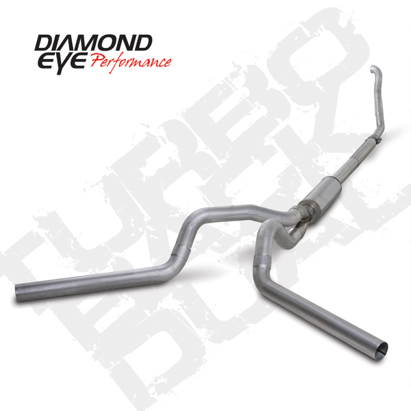 94 97 ford 7 3l powerstroke aluminized 4 in turbo back dual exhaust system