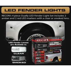2011-2012 Ford Smoked LED Dually Fender Lights